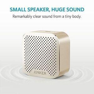 ENCEINTE NOMADE Mini enceinte dorée - Bluetooth, Portée de 10 Mètr