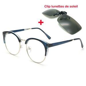 LUNETTES DE VUE Ronde goggle Monture de lunettes+Clip lunettes de