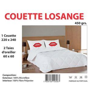COUETTE COUETTE BLANCHE 220X240CM 2 PLACES + 2 OREILLERS 6