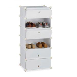 PETIT MEUBLE RANGEMENT  meuble 6 casiers à chaussures Blanc