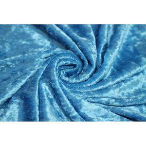 TISSU Tissu Panne de Velours Turquoise -Au Mètre