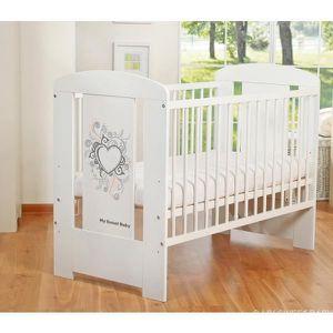 LIT BÉBÉ Lit bébé à barreaux 120 x 60 cm coeur gris