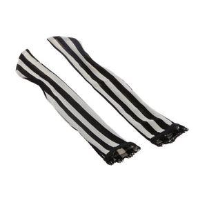 POUPÉE POUPEE 1-3 Stripe Dentelle Bas Chaussettes Pour BJ