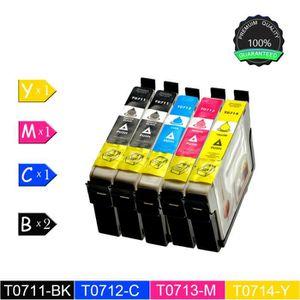 CARTOUCHE IMPRIMANTE 5 Cartouches d'encre Epson T0711 T0891 (2 Noir, Cy