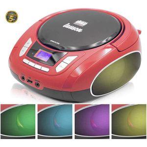 RADIO CD CASSETTE NXT962 Radio Lecteur de CD avec lumières multicolo