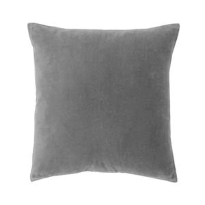 coussin velours gris achat vente coussin velours gris pas cher cdiscount. Black Bedroom Furniture Sets. Home Design Ideas