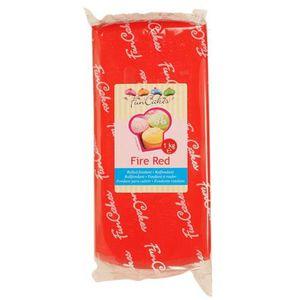 PATE A SUCRE Pâte à sucre rouge 1kg - FunCakes