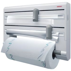 Leifheit wandrollen Support De Cuisine Porte-rouleau papier d/'aluminium fraîchement considère Diapositive 30,2 cm