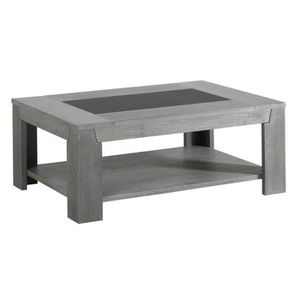 Table basse chene gris achat vente table basse chene gris pas cher cdis - Table basse chene clair pas cher ...
