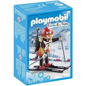 FIGURINE - PERSONNAGE PLAYMOBIL 9287 - Family Fun - Biathlète