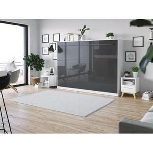 LIT ESCAMOTABLE SMARTBett Standard 140x200 horizontal blanc/ anthr