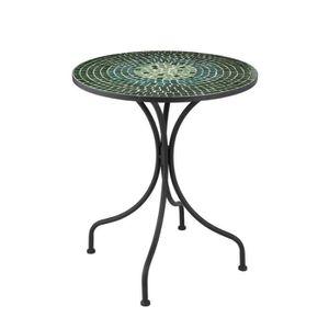 Table de jardin metal vert