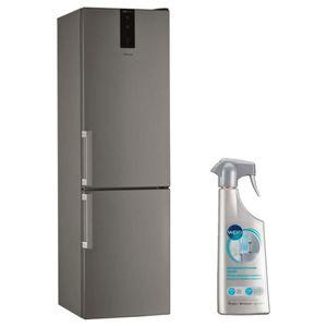 RÉFRIGÉRATEUR CLASSIQUE WHIRLPOOL réfrigérateur frigo combiné inox 368L A+