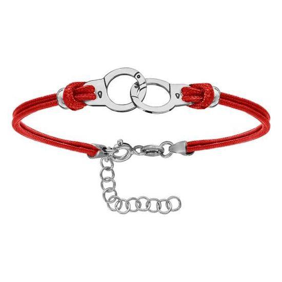 bracelet argent et rouge
