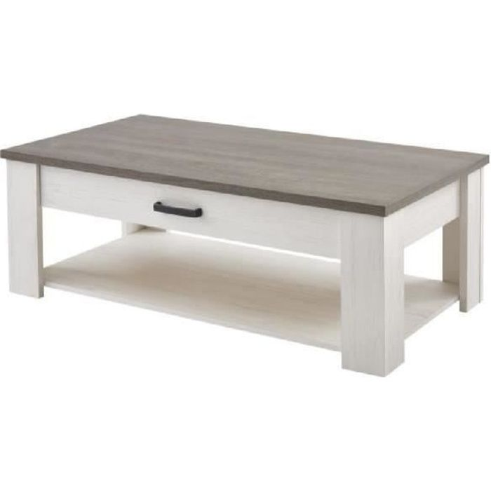 Marquis table basse style contemporain d cor pin et d cor - Table basse de la maison ...