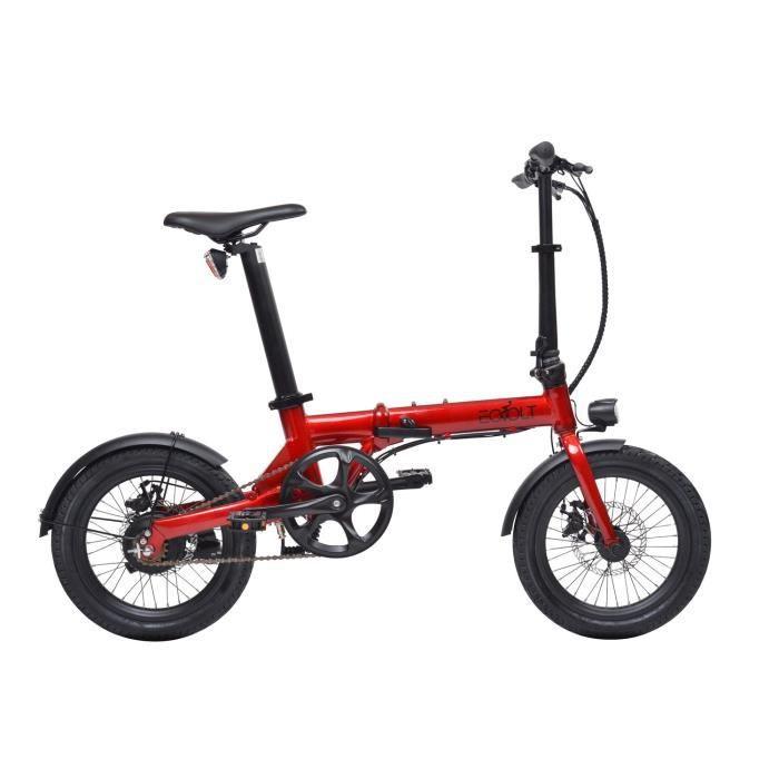 Vélo à assistance électrique City pliant 16- - Rouge