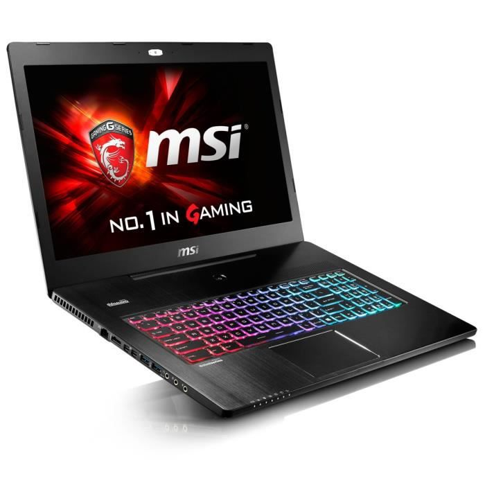 msi pc portable gamer gs72 6qe 287xfr 17 3 full hd. Black Bedroom Furniture Sets. Home Design Ideas