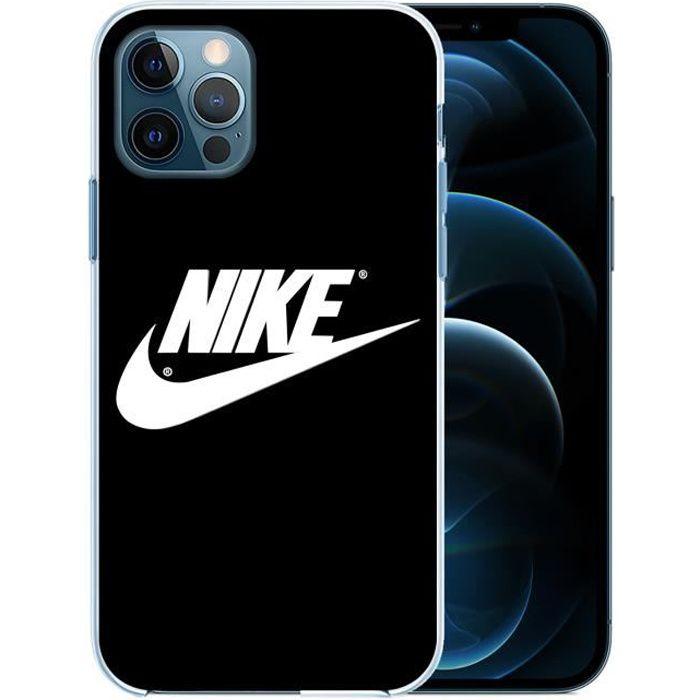 Coque pour iPhone 12 PRO MAX - Nike Logo Noir. Accessoire telephone