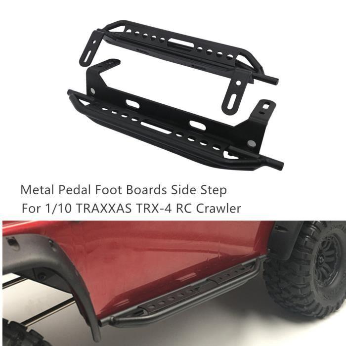 Plaque de marche latérale de panneaux de pied de pédale en métal pour 1-10 TRAXXAS TRX-4 T4 RC Crawler #