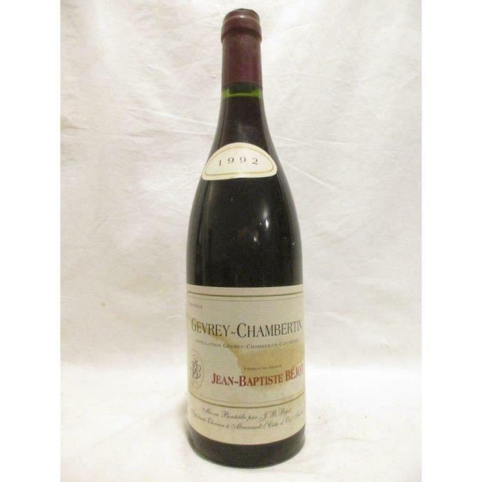 gevrey-chambertin jean-baptiste béjot rouge 1992 - bourgogne