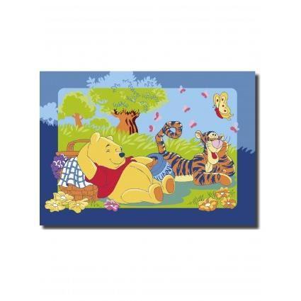 WINNIE L'OURSON PICNIC multicolor 95x133, par Winnie, Tapis pour enfant