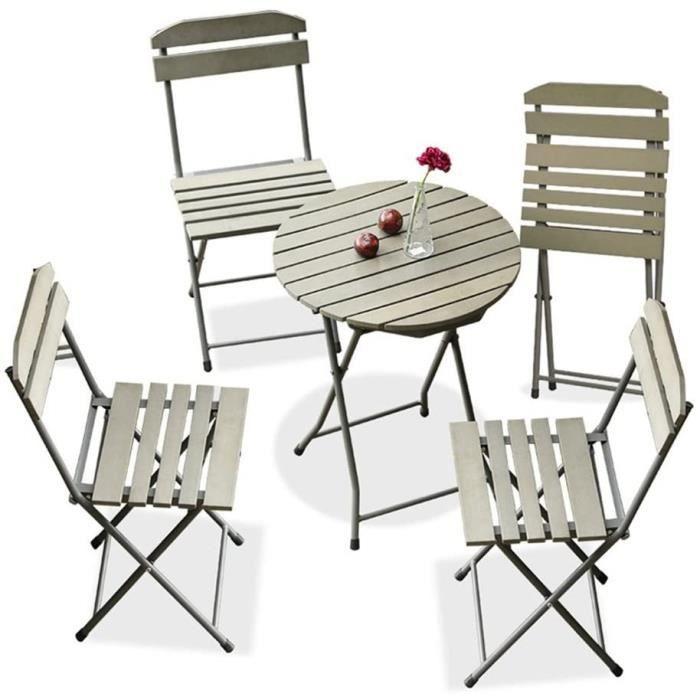 Tables basses de jardin XUQIANG Balcon Meubles Trois Pièces Mini Combinaison Jardin Jardin Terrasse Fer Pliant Simple Lo 148402