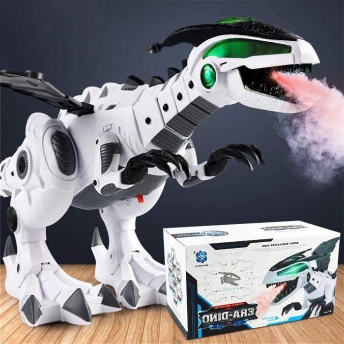Brume Spray Dinosaure Robot Jouet pour les enfants - Brume Spray Eau de respiration avec lumière verte, blanches de dragon