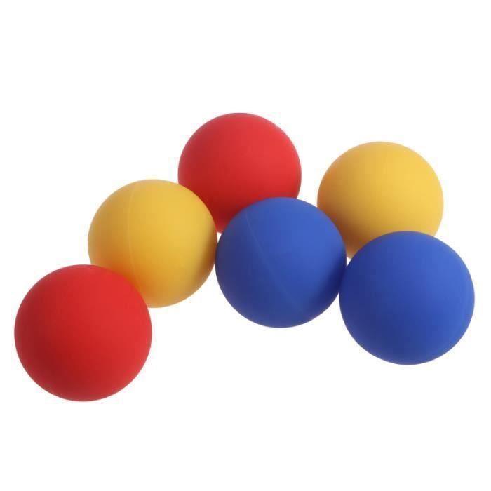 6 pièces boules de crosse de silicone portables durables réutilisables fournitures de BALLON SUISSE - GYM BALL - SWISS BALL