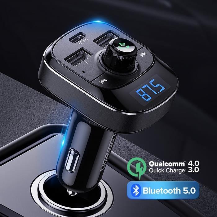 Ugreen PD chargeur de voiture Charge rapide 4.0 3.0 FM transmetteur Bluetooth mains libres FM modulateur - Type FM Transmitter