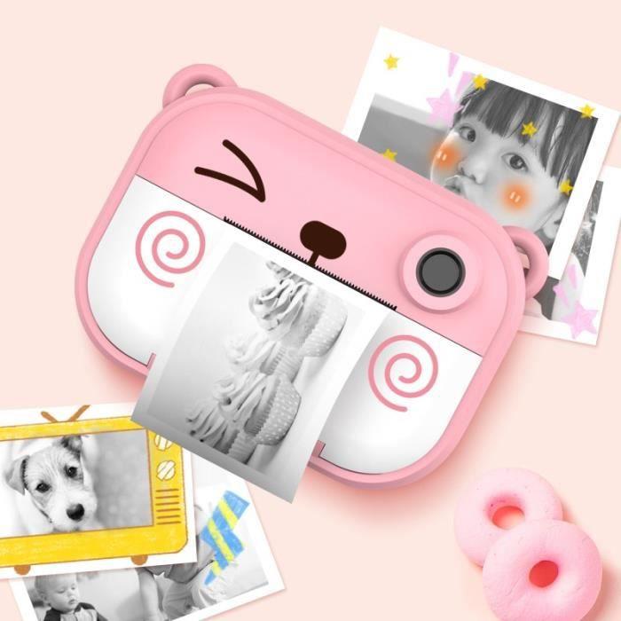 Appareil Photo Enfant Rose C3 2,4 Pouces IPS Écran HD 1200W Enfants Mini Caméra Polaroid Cadeau Enfant