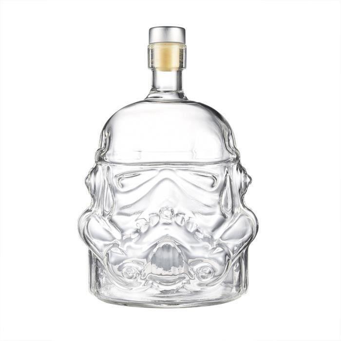 Unique Whisky Carafe TRIMESTRE vin Decanter Stormtrooper bouteille en verre, Convient pour Whisky, Vodka et vin, couleur transparent