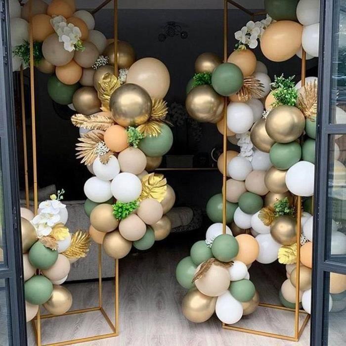 ballongonflable Ensemble de ballons verts en pate de haricots de couleur rétro Ensemble de ballons verts rétro Ensemble de123455
