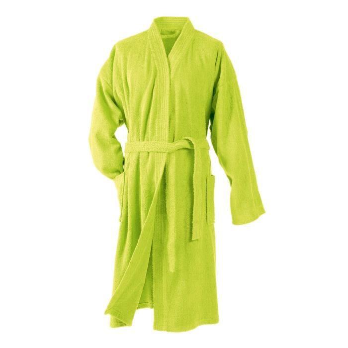 DOUCEUR D'INTERIEUR Peignoir kimono éponge 100% coton Vitamine anis
