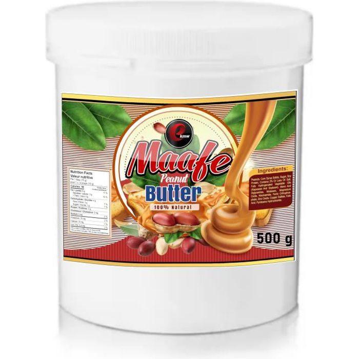 Beurre de cacahuètes - sélection panafricaine - 500g