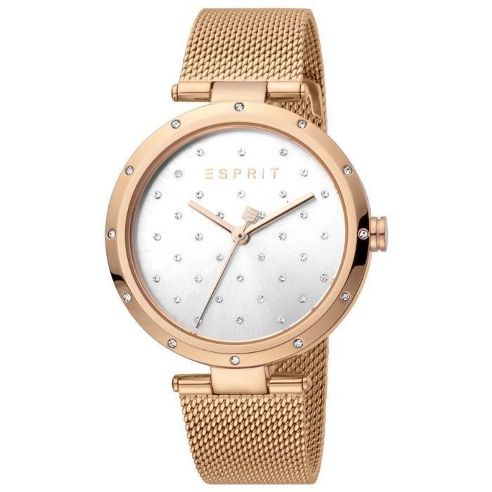 Montre Esprit ES1L214M0075 pour femme avec bracelet en maille d'or rose