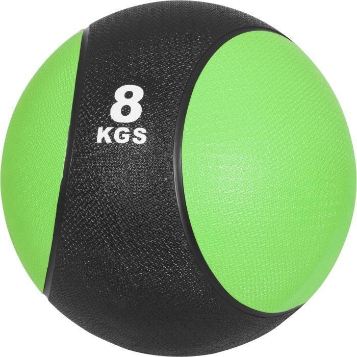 Médecine ball 8kg vert/noir