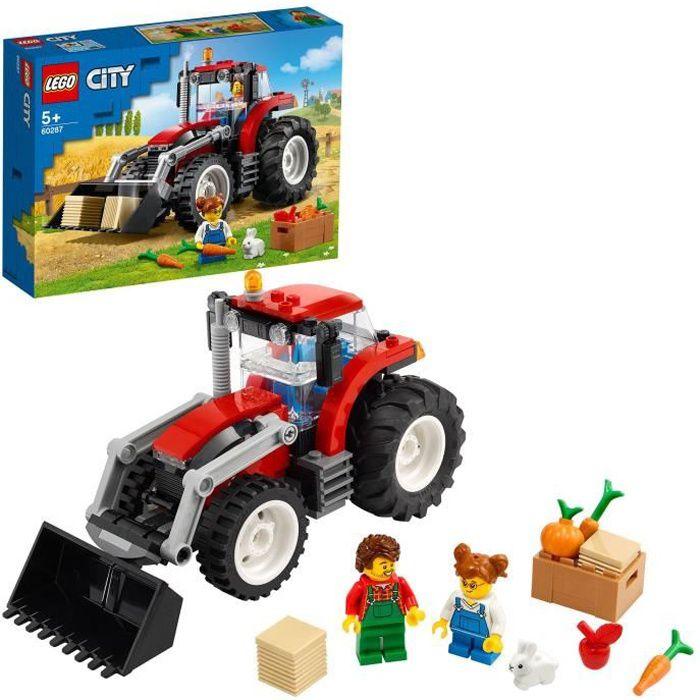 LEGO® City 60287 Le tracteur Jouet, jeux de la ferme avec les figurines de fermier et de lapin pour garçon ou fille de 5 ans
