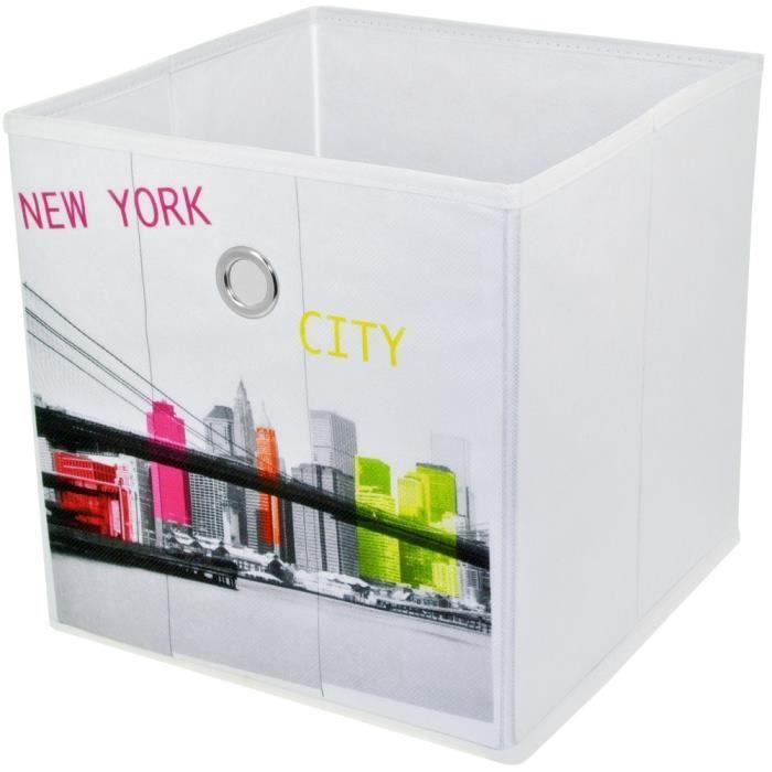 Panier De Rangement Pliable Salle De Bain Déco New York Pop Art Pont De Brooklyn 12cm