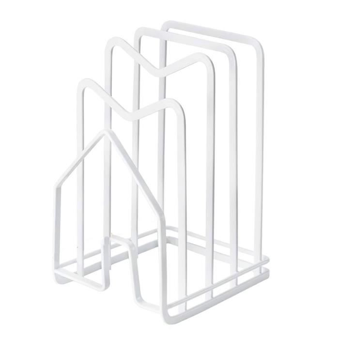 Support de planche à découper Support de rangement pour planche à découper Etagère de rangement de cuisine-blanc