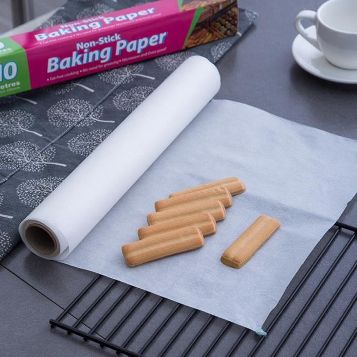 2 rouleaux de papier de cuisine en silicone, parchemin antiadhésif, tapis de cuisson pour barbecue, pique-nique GATEAU PATISSIER