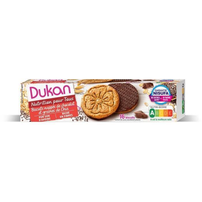 DUKAN Biscuits de son d'avoine aux graines de Chia et chocolat - 160 g