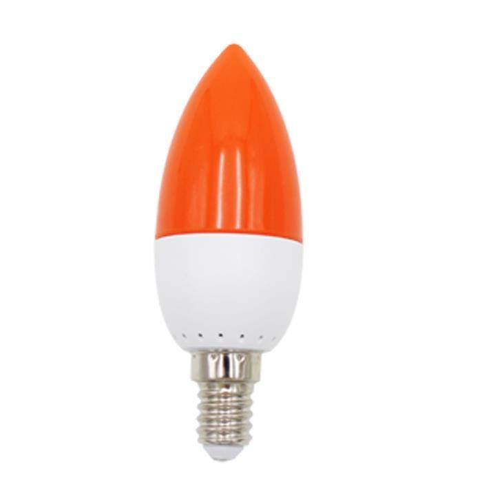 E14 LED Couleur bougie pointe ampoule, couleur bougie lumiere,rouge