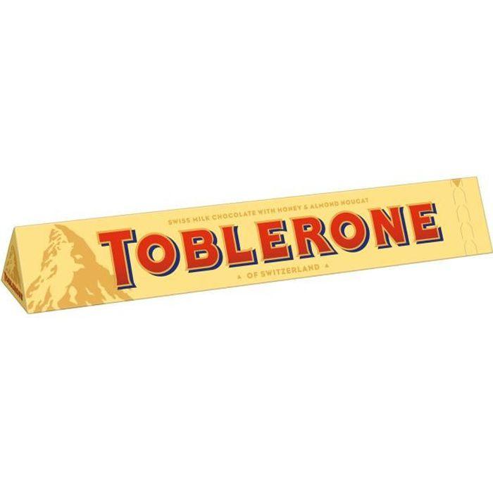 TOBLERONE Chocolat au lait suisse au nougat au miel et aux amandes - 360 g