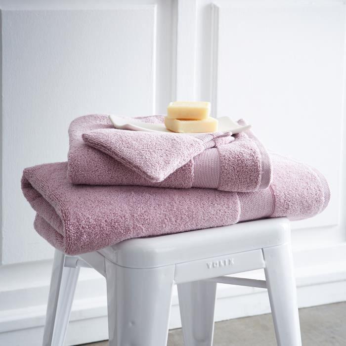 Serviette de toilette unie 100% coton 600 gr/m2 50x90cm AQUARELLE