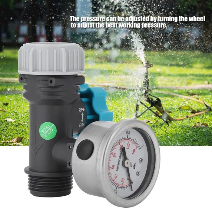 Qiweiidmall-Vanne de Régulation de Pression d'Eau Réglable G3-4po avec Manomètre Contrôleur d'Irrigation