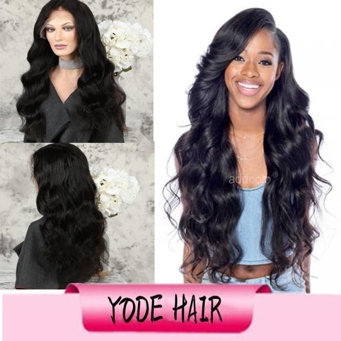 Cheveux humains 360 Lace Frontal Wigs Perruque de vague lâche de cheveux brésiliens de couleur naturelle cheveux remy 24-