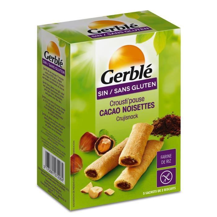 Crousti'Pause Coeur fondant cacao noisette sans gluten - Gerblé - 125 g