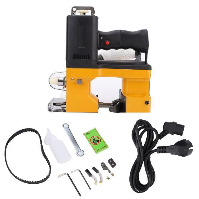 Machine à coudre de sac électrique outil d'emballage de couture de joint portatif en métal prise EU 220V -NIM