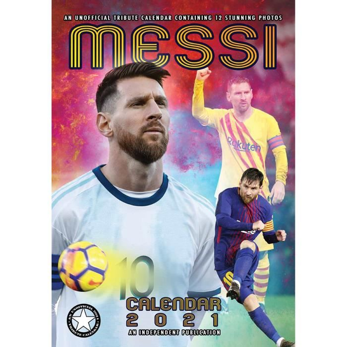 Calendrier 2021 Lionel Messi   format A3   Achat / Vente