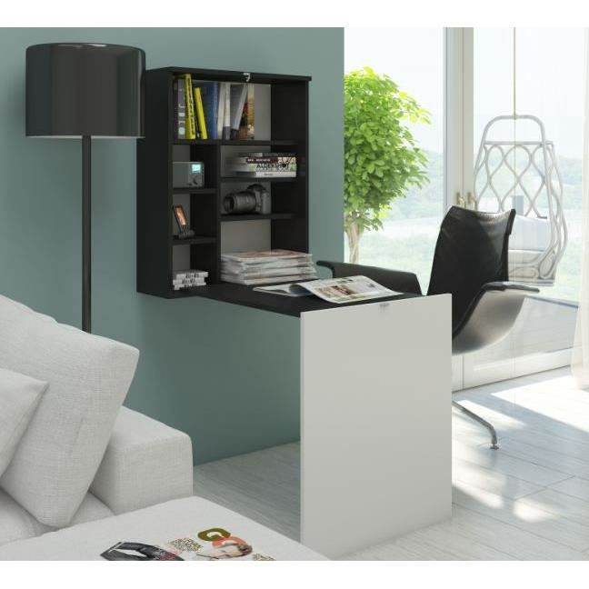 bureau rabattable achat vente bureau rabattable pas cher cdiscount. Black Bedroom Furniture Sets. Home Design Ideas